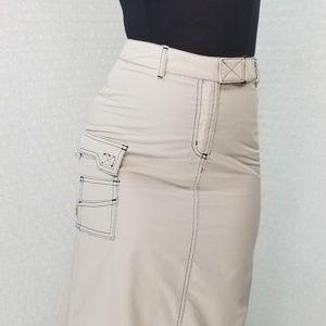 Dawls Vintage 1990s dELiA*s khaki raver maxi skirt